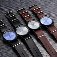 acrylic watch bands - Retro Futuro Brand komono Quartz Watches Minimalist style Mens Watches Relojes Komono Luxury Leather Band Watches