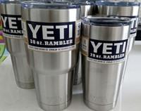 Wholesale 2016 YETI yeti oz Cup Cooler Rambler Tumbler Epacket Free YETI Mug Tumblerful Bilayer Vacuum Insulated Stainless Steel