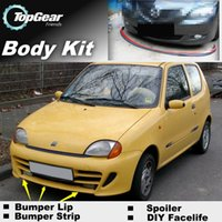 Wholesale Bumper Lip Lips For Fiat Seicento Front Skirt Deflector Spoiler For Car Tuning The Stig Recommend Body Kit Strip