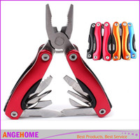 Wholesale 9 in Multifunction Stainless Steel Multi Tool Pliers for Outdoor Survival Pliers Mini Folding Survival Pocket Knife Hand Tools