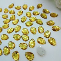 Wholesale 2016 new gold color acrylic rhinestones sew on apparel bags shoes sewing accessories loose diamonds Z007