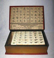 beautiful tiles - Beautiful Mah Jong Set in Leather book Box Tiles