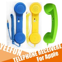Wholesale Coco Retro MM Telephone Receiver Anti radiation Cellphone Handset glide wheel Volume Control For Apple iPhone Ipad Receiver Headset