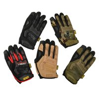 Wholesale Mechanix Wear M Pact Tactical Army Combat Shooting Gloves Bicycle Motorcross Paintball Full Finger Gloves for Camping Climbing Gloves Bick