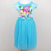 Wholesale Small horse skirt dress girl s skirt cotton girl princess dress dress and the United States and Europe wind burst
