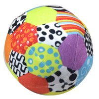 baby crawl ball - 15cm Colorful Baby Ball Toy Soft Ring Bell Ball Plush Rattle Noise Maker Baby Crawl Early Educational