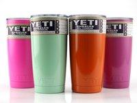 Wholesale YETI oz Cup Rambler Tumbler For Travel Vehicle Beer YETI Mug Tumblerful Bilayer Vacuum Insulated mix colors