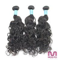 best pure water - Unprocessed Brazilian Hair Human Hair Extension Peruvian Indian Malaysian Human Hair Bundles Natural B water wave Best Quality