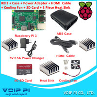 Wholesale 2016 UK ORIGINAL Raspberry Pi Model B Board GB Quad Core GHz Case HDMI Cable GB SD Card Power Adapter Fan Heat Sink