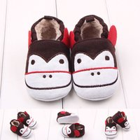 baby monkey fabric - New Arrival Cute Monkey Cotton Soft Fabric Upper and Outsole Toddler Baby Walking Shoes Casual Shoes Non slip