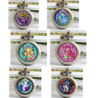 antique dash - Antique Silver vine Rainbow Dash Necklace My Little P Friendship Is Magic Jewelry New Pocket Watch Necklace
