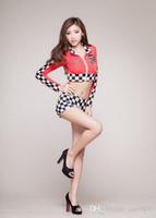 Wholesale Fashion Sexy car racing suit sexy lingerie uniforms Underwear lace gather slim suit dress