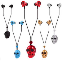 Wholesale Skulls Gothic Punk Bluetooth Headset Wireless Stereo Earphone Handsfree Sport Headphone for iPhone Samsung most popular and