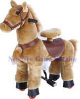 arcade rides - 2016 New Amusement Park Equipment Electric Arcade Plush Walking Animal Children Toy Kiddie Mechanical Ride On Horse
