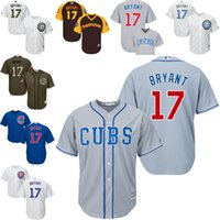 jerseys for kids - Kids Grey blue white Kris Bryant baseball Jersey Youth Chicago Cubs Cool Base for sale stitched