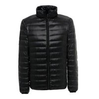 Wholesale Fall Parkas Man Ultralight Down Jacket Feather Men Duck Down Outdoors Stand Collar Lightweight With Buggy Bag