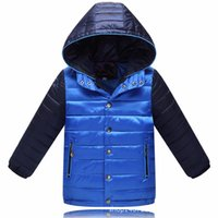 add down kids - New Casual Children s Winter Jackets Boys Solid Hooded Coat Boys Warm Down Kids Outerwear Winter Add Cotton Coats Jackets