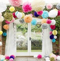 artificial tissues - paper ball cm inch Tissue Paper Pom Poms Artificial Flowers For Decoration Decorative Flowers Paper Flowers