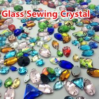 Wholesale Mix Sizes Shapes Colors Glass Sewing Crystal Stones For Dress Clothing Shoes Bags DIY Decoration