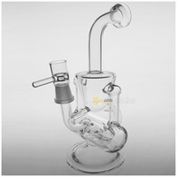 Wholesale Newest Glass Bong quot Two Founction Double Recycler Glass Bongs Water Pipe mm Joint