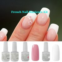 Soak-off Gel Polish french manicure nails - French Nail Gel ml IDO Gelish Colors UV Lamp Base Top Coat Manicure Tips Soak Off Gel Polish