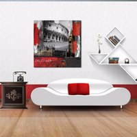 big ben pictures - LK143 Big Ben and Colosseum In Rome Landscape Oil Paintings Pictures On Canvas Wall Art Modern Pictures Print Handmade On Canvas Paintings