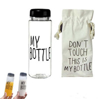 Wholesale Newest Fashion My Bottle Health Plastic Material ml Fruit Lemon Juice Water Tour Outdoor Cup Botle With Bag DHL free