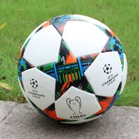 Wholesale Match Football Soccerball Soccer Euro Champions League Antiskid Competition Training NO Soft Skin Particles Shape Star