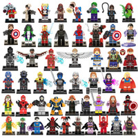 best building toys - 50pcs Super heroes building blocks Batman Iron man Thanos Catwoman Superman Spider Man kids best gift toys bricks