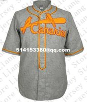 Wholesale Retro Mens Lincoln Sioux Falls Canaries Road Baseball Jersey gray Throwback or Custom any number name Stitched jerseys
