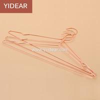 adjustable closet - Yidear elegant rosy gold steel clothes hanger metal wire copper coat hangers t shirt hanger dress hanger