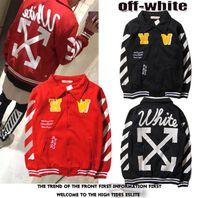 Wholesale Men s Jackets Hoodies Unisex Lovers OFF WHITE Causal Autumn winter Hip Hop Cool Brand Designer Men Jesus Arrow Cotton Shirt SS06