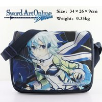 art school online - Japanese anime Sword Art Online Cartoon Messenger Bag School Bag Shoulder Crossbody Girl Daypack Handbag