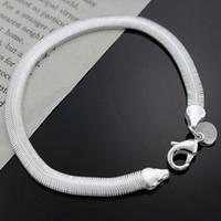 Wholesale 2016 hot sale XMAS fashion sterling silver jewelry Chain bracelet New fine silver charm chain bracelet for women H164