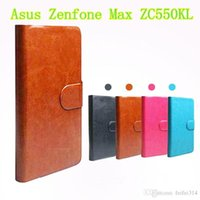 asus specials - in stock Flip PU Leather Cover Case For Asus Zenfone Max ZC550KL Special Cell Phone Holster Touch Pen Gift