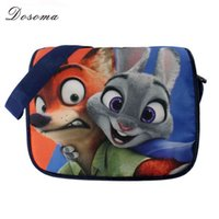 animation cartoon characters - Crazy Animals Town Bag Judy Nick Zootopia Cartoon Characters Shoulder Bag Satchel Bag Plush Bags Surrounding Animation Film