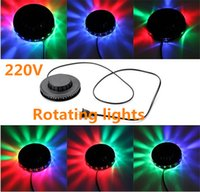 Wholesale Hot sale Mini UFO Light Small Stage Light Small Sun Stage Light Colorful Rotating Lamp W LED Solar Lights