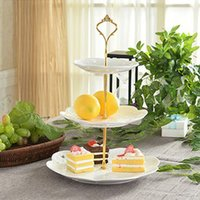Wholesale 1 Sets Tier Cake Plate Tier Cake Plate Stand Handle Crown Fitting Metal