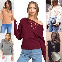 Wholesale New Colors Fashion Women Girl Cotton Pullover Vintage Warm Sweater Knit Hollow Bottom Pull Femme Casual Shirt Top Blouse Long Sleeve Retro