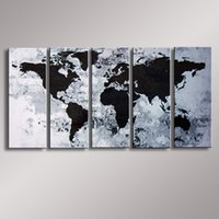 Cheap World Map painting Oil Painting 100% Hand Painted Modern Wall Art Painting ,Abstract oil painting WM-005
