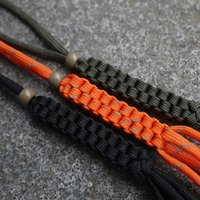 Wholesale Camping Hiking Travel Kits EDC Gear Corn Knot Umbrella Rope Nylon Chain Rope Tool Ornaments Falling Knife Knot keychain DIY Tools