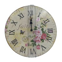 antique french clock - Brand Hippih quot Vintage France Paris Duvar Saati French Style ikea Wood Reloj Wall Clock Home Decoration Relogio De Parede
