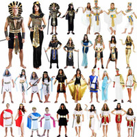 adult king costume - Egypt Costume Elegant King Queen Pharaoh Costume Adult Cosplay Halloween Carnival Costumes Fantasia Fancy Dress Party Supplies