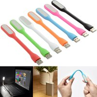 Wholesale Flexible USB LED V Bendable Mini Slim Light Lamp SHPG For Laptop Notebook PC