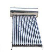 calentador de agua solar a presión compacta, 15 evacuados tubo de la pipa de calor del calentador de agua de energía solar, los mejores calentadores domésticos de venta