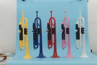 Wholesale Standard grade ABS Trumpet in Colorful Finish With mouthpiece and Trumpet Bag Musical instruments OEM Dropshipping