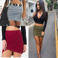 american apparel high waist short - 2016 American Apparel Street Fashion Women Lady High Waist Short Skirt Sexy Bandage Bodycon Cross Fold Pencil Skirts Colors
