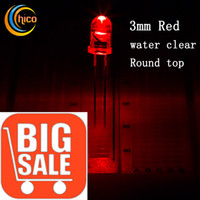3mm led - Sales promotion led Light Beads mm LED diodes Super Bright Red LED Round Light Beads with edge mA