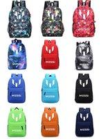 Wholesale Hot Unisex Lionel Messi Logo Barcelona Casual Canvas Backpack Student Schoolbag Laptop Bag Shoulders Backpack