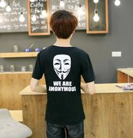 anonymous shirt - Brand Summer O for Vendetta Anonymous Guy Fawkes Mask Men T Shirts O Neck Short Sleeve Vintage Tops Male Tees Tshirts